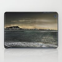Storm in the sea iPad Case