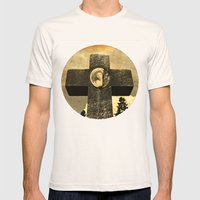 Jennie's cross Mens Fitted Tee Natural SMALL