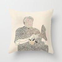 ol d friends Throw Pillow