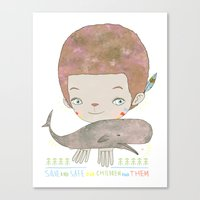Extinction - SAVE SAFE Canvas Print