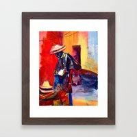 Hats for sale Framed Art Print