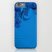 iPhone & iPod Case featuring Blue Fractal by Christy Leigh
