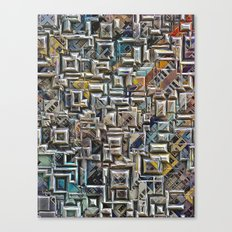 Geometric City Shapes Canvas Print