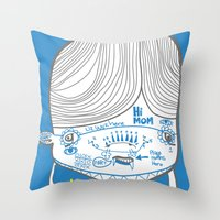 The Breakfast Pretzel Re… Throw Pillow