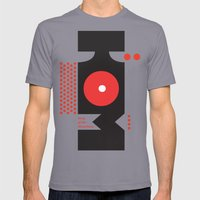 King of the Mountains, Abstract 1 Mens Fitted Tee Slate SMALL