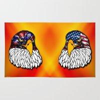 Confederate and Union Eagles Rug