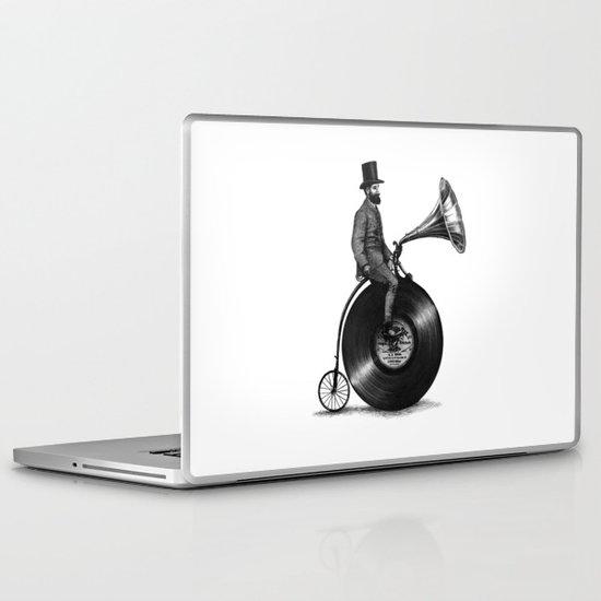 Music Man (monochrome option) Laptop & iPad Skin