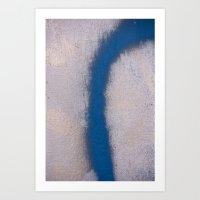 Blue Curve Art Print