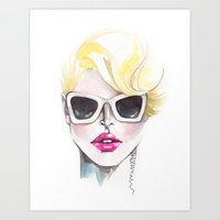 Blonde Chic Art Print