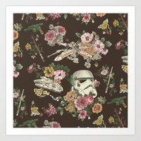animal Art Prints featuring Botanic Wars by Josh Ln