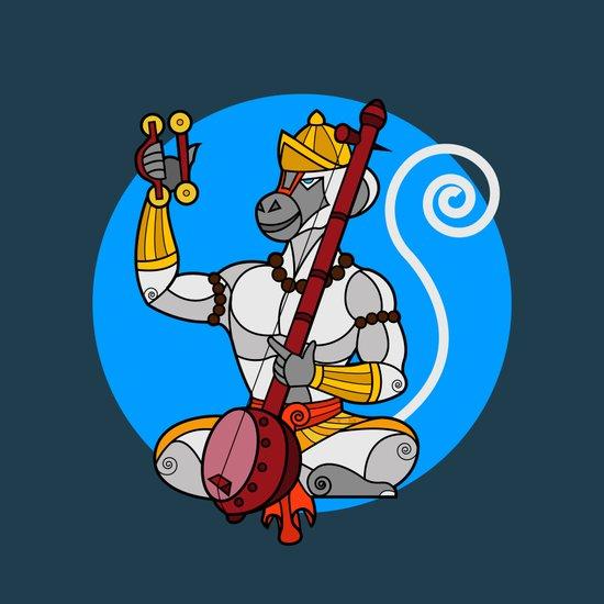 Hanuman Singing Art Print