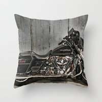 Black Harley Street Glid… Throw Pillow