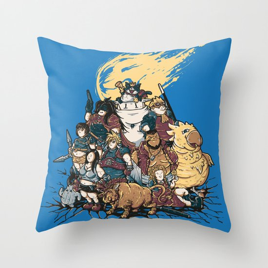 FF7 - FULL FAT 7 Throw Pillow
