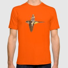 Happy Trails  Mens Fitted Tee Orange SMALL