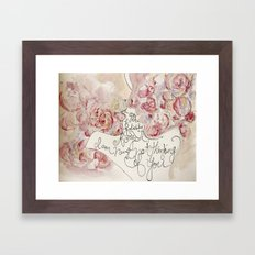 the roses of the lovers Framed Art Print
