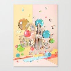 Oh Balls - Ch Typography Print Canvas Print