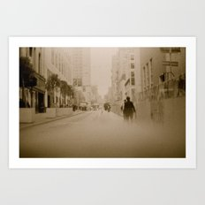 Somewhere in Downtown Art Print