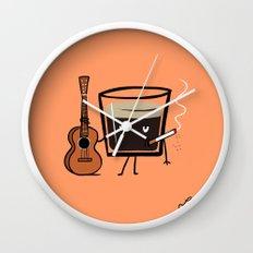 Espresso Wall Clock