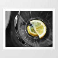 Yellow Lemons Art Print