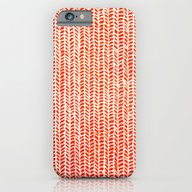 Stockinette Orange iPhone 6 Slim Case