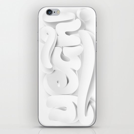 Yeah! — White lettering iPhone & iPod Skin
