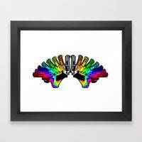Rainbow Revolver Framed Art Print