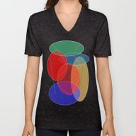 Unisex V-Neck featuring Abstract #27 by (RLT)