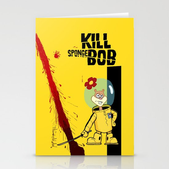 Kill Spongebob Stationery Card