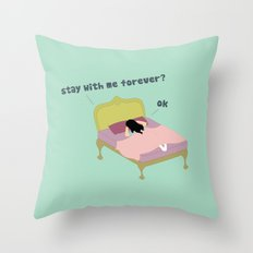 Stay Forever Throw Pillow