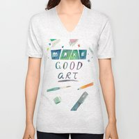 Make Good Art Unisex V-Neck