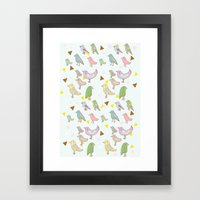 Bird Pattern Framed Art Print
