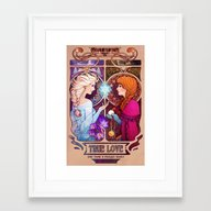 Let Me In - Quote Versio… Framed Art Print
