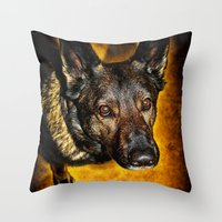 Throw Pillow featuring Loyal by Karol Livote