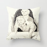 Killer twin peaks Throw Pillow