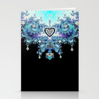 Celtic Fractal Celtic Heart Tapestry Stationery Cards