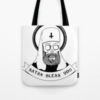 Satan bless you Tote Bag