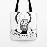Satan Bless You Tote Bag