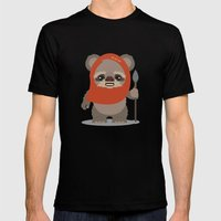 Ewok  Mens Fitted Tee Black SMALL