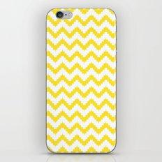 funky chevron yellow pattern iPhone & iPod Skin