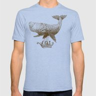 Tea At 2,000 Feet Mens Fitted Tee Tri-Blue SMALL