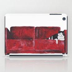 cat in a red sofa  iPad Case