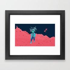 SpaceZomb Framed Art Print