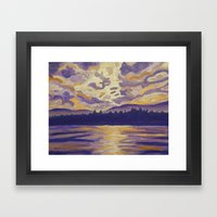 Okanagan Landscape In Pu… Framed Art Print