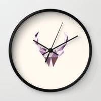 Polydeer in Space Wall Clock