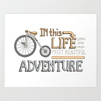 Bicycle Adventure, Roman… Art Print