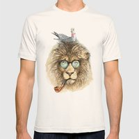 Lion Sailor & Seagull Mens Fitted Tee Natural SMALL
