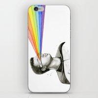 Geordi Rainbow Watercolor Portrait iPhone & iPod Skin