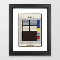 Mondrian+eames Framed Art Print