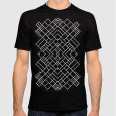 PS Grid 45 Black Mens Fitted Tee Black SMALL