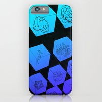iPhone & iPod Case featuring Sea Creature Cubes by Justin Perkins